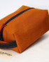 Small Dopp Kit / Mustard Brown Denim