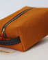 Large Dopp Kit/ Mustard Brown Denim/ Metal Zipper
