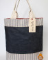 Medium Overnight Tote/ Deep Tone Indigo Denim/ Ticking