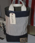 Picnic Tote/ Ticking/ Deep Tone Indigo Denim/ Waxed Bottom